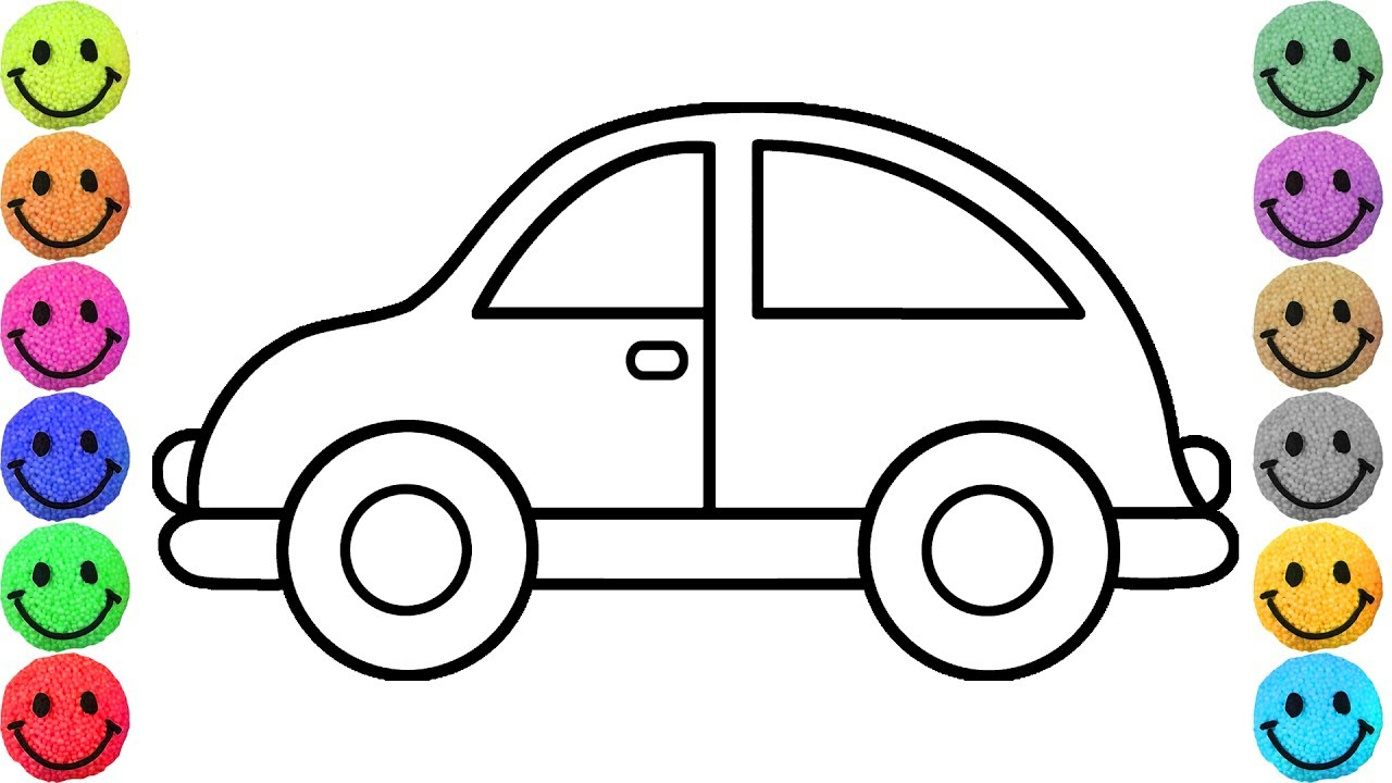 1280x720 Cars Drawing For Kids Simple Example Car Coloring Pages