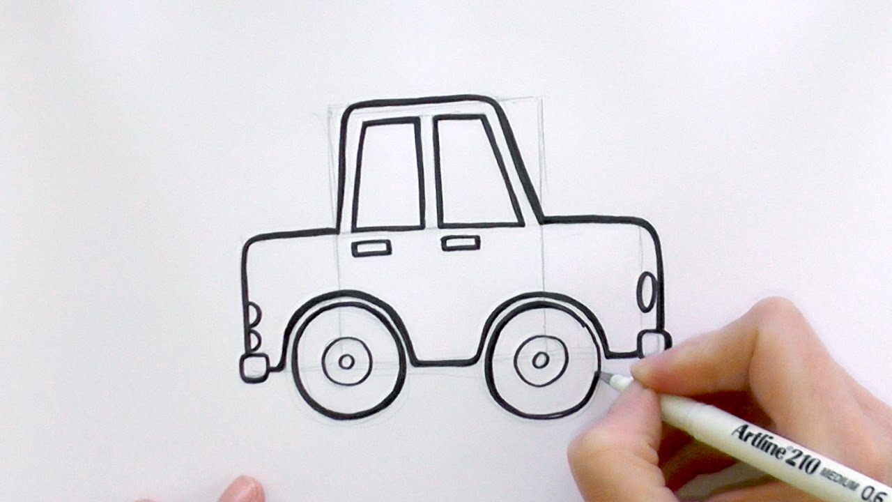 1280x720 Cartoon Cars To Draw How To Draw A Cartoon Car From Lowercase