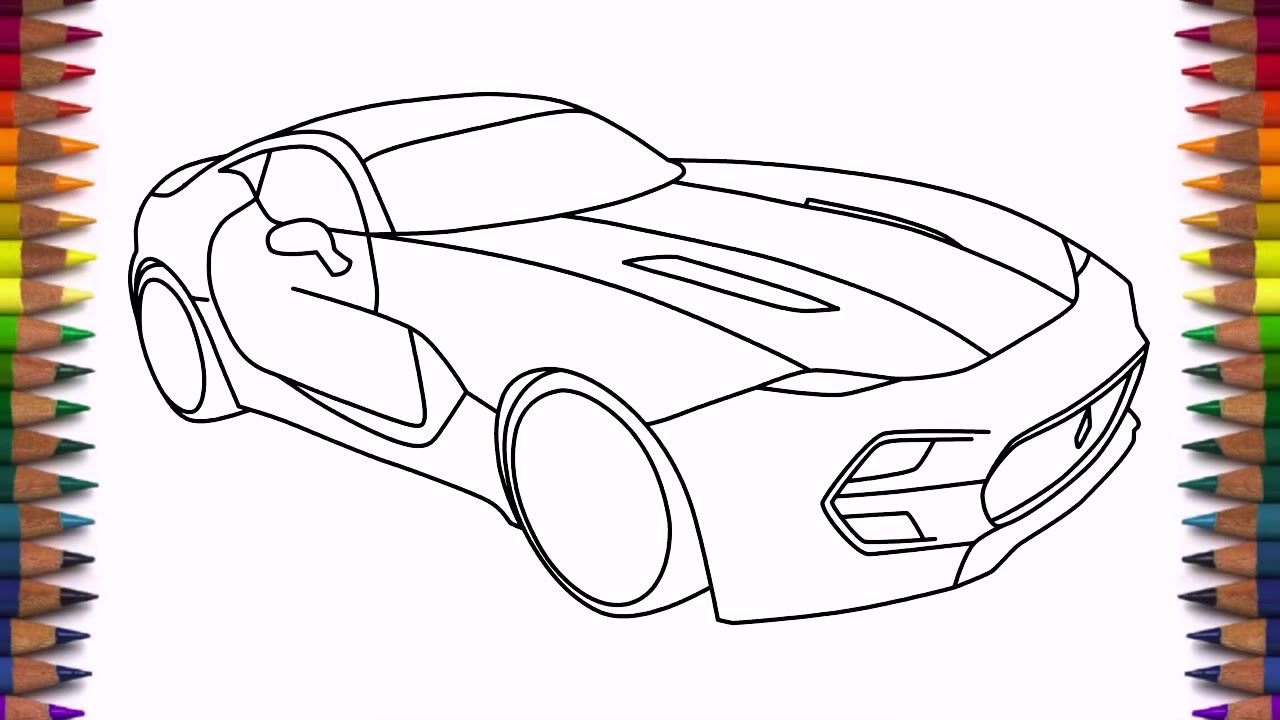 1280x720 How To Draw Supercar Vlf Force 1 Drawing Easy Step By Step