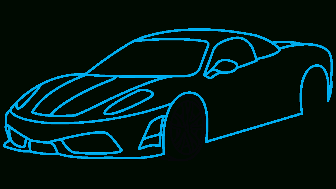 1280x720 Cars Drawings Step By Step