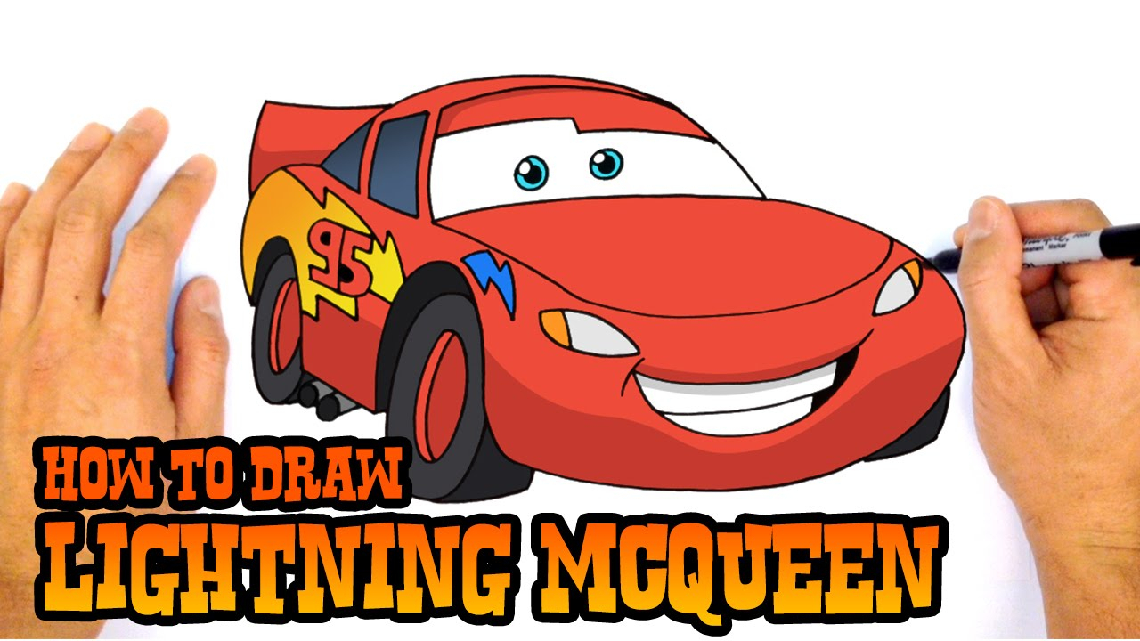 1280x720 How To Draw Mcqueen Step By Step Lightning Mcqueen Drawing