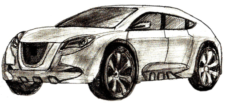 450x207 How To Draw A Car