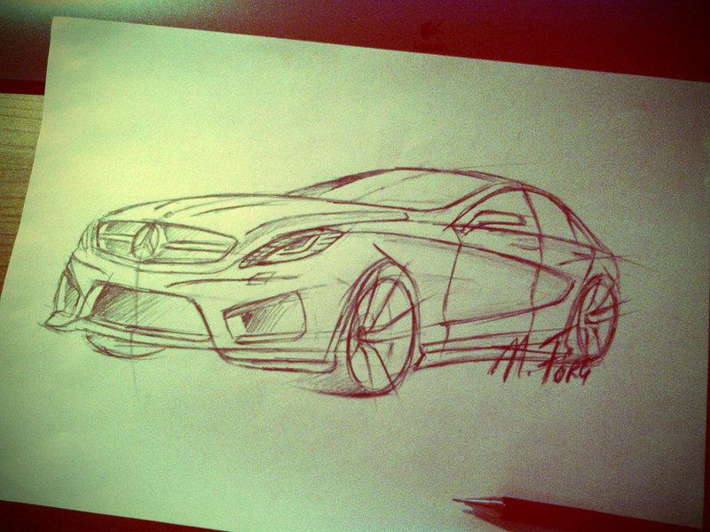 800x600 Mercedes Concept Car Pencil Drawing By November Foxtrot