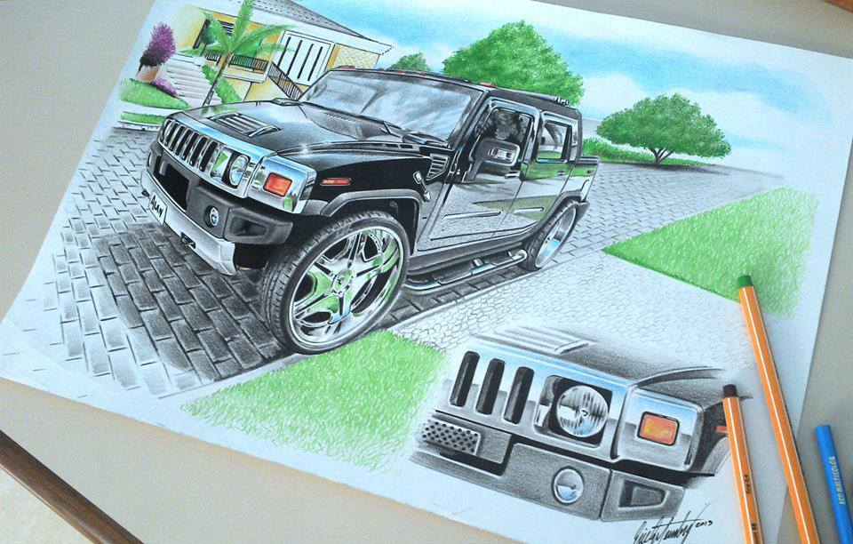 960x612 Cars Pencil Drawing By Eric Image Fullimage