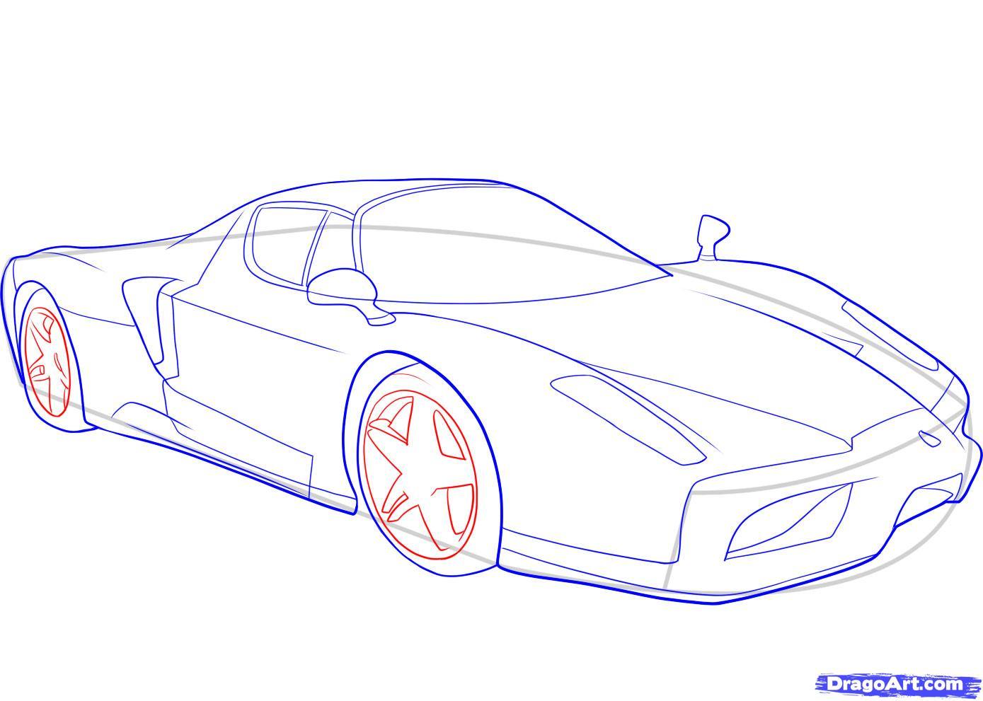 Cars Step By Step Drawing at GetDrawings.com | Free for personal use ...