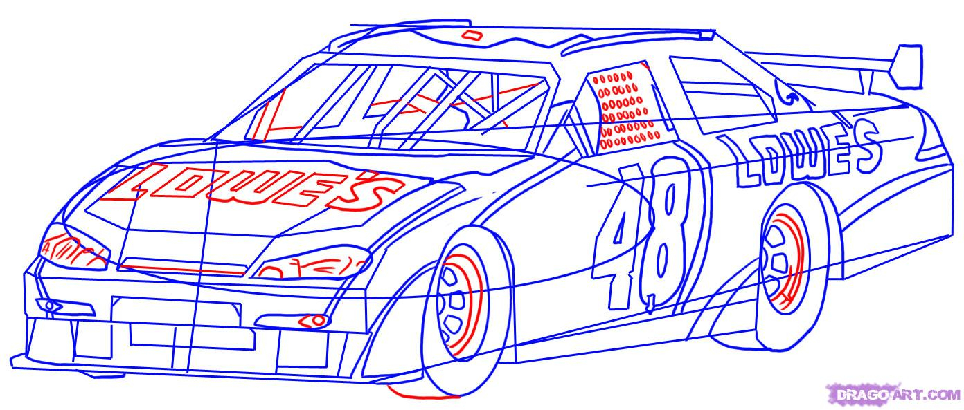 1392x593 How To Draw Racing Cars Step By Step