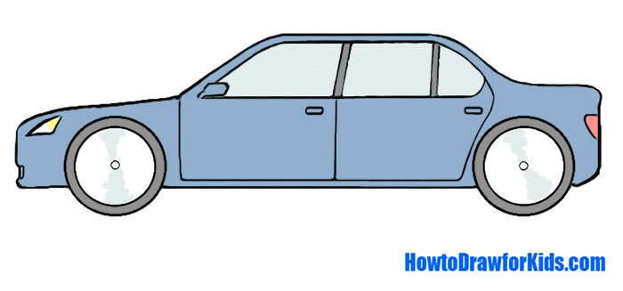 700x327 How To Draw A Car For Kids Howtodrawforkids