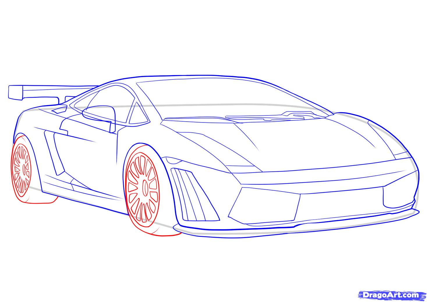 1467x1038 Sketch Cars Step Step How To Draw A Lamborghini, Stepstep, Cars
