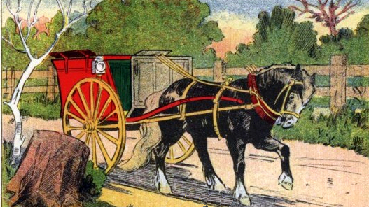 527x296 Horse Amp Cart Drawing