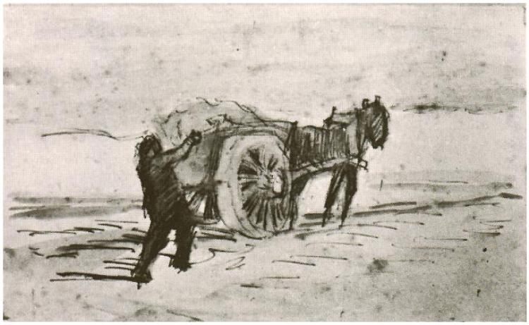 750x461 Man Loading A Cart By Vincent Van Gogh