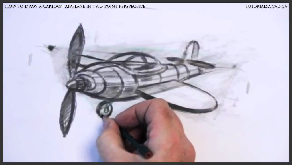 1024x578 How To Draw A Cartoon Plane In Two Point Perspective