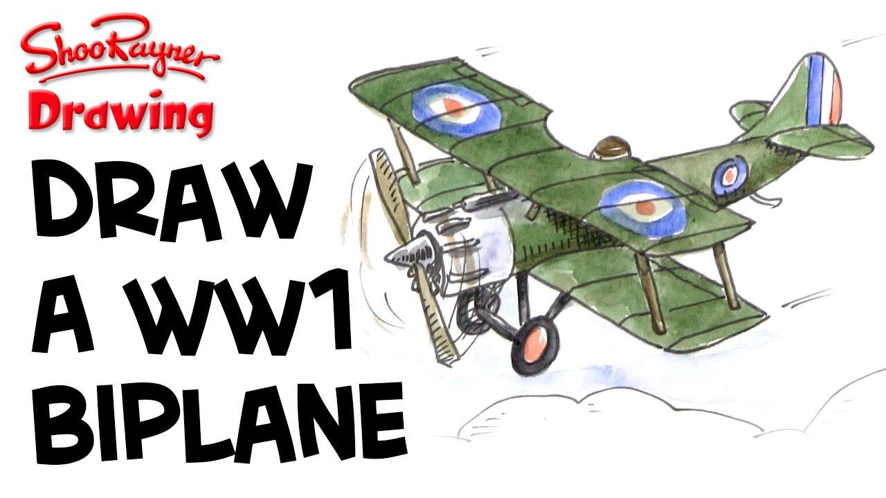 1280x720 How To Draw A Wwi Biplane