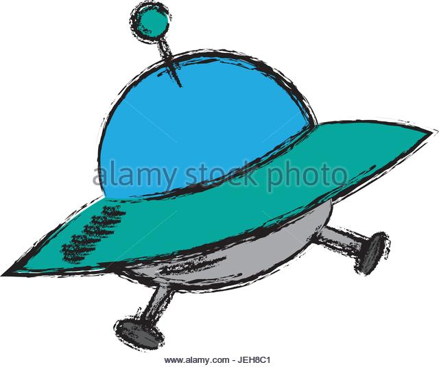 640x535 Cartoon Alien Spaceship Flying Saucer Cut Out Stock Images
