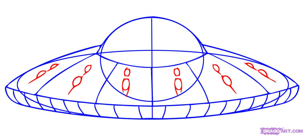 1024x458 How To Drawlien Spaceship How To Draw Cartoonlien In