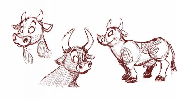 728x408 Cartoon Animal Drawings