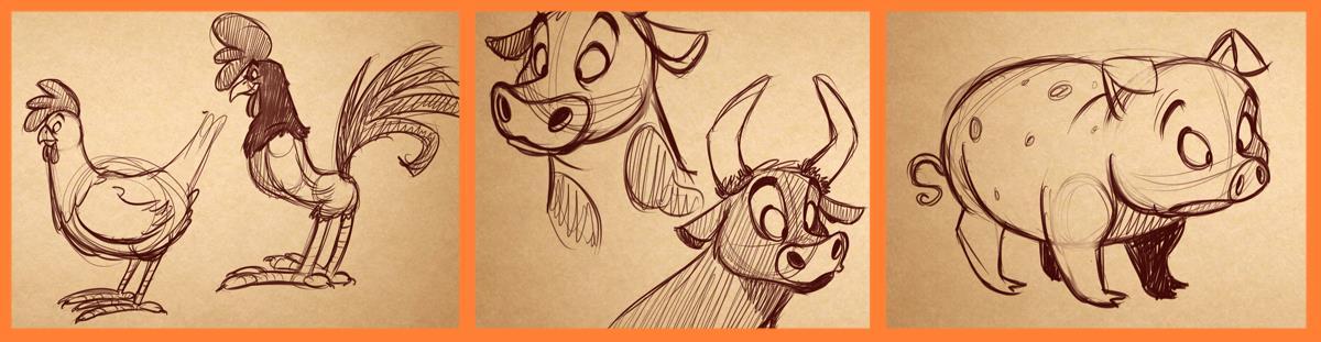 1200x311 How To Draw Cartoon Animals