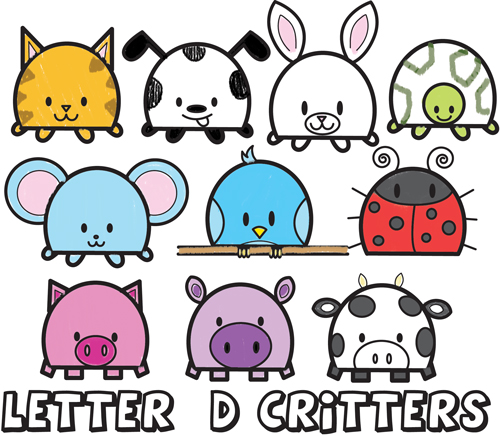 500x436 Huge Guide To Drawing Cartoon Animals From The Uppercase Letter D