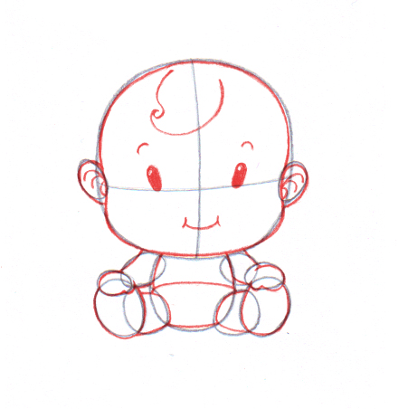 451x452 4 Ways To Draw A Baby