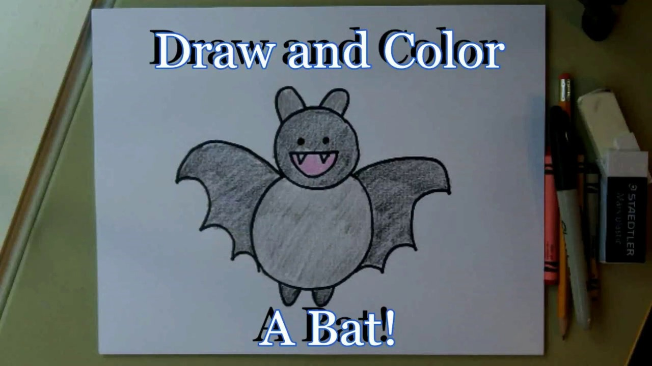 1280x720 How To Draw A Cartoon Bat! Easy Step By Step= For Kids