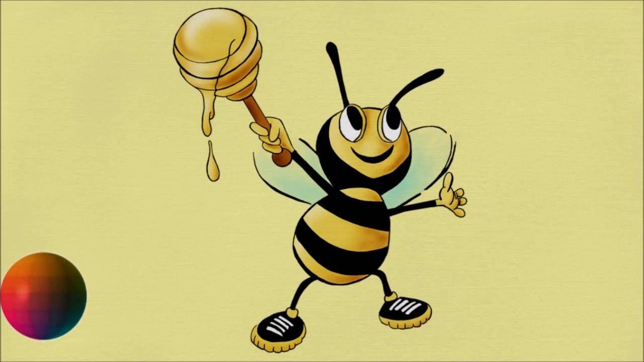 1280x720 How To Draw Cartoon Honey Bee