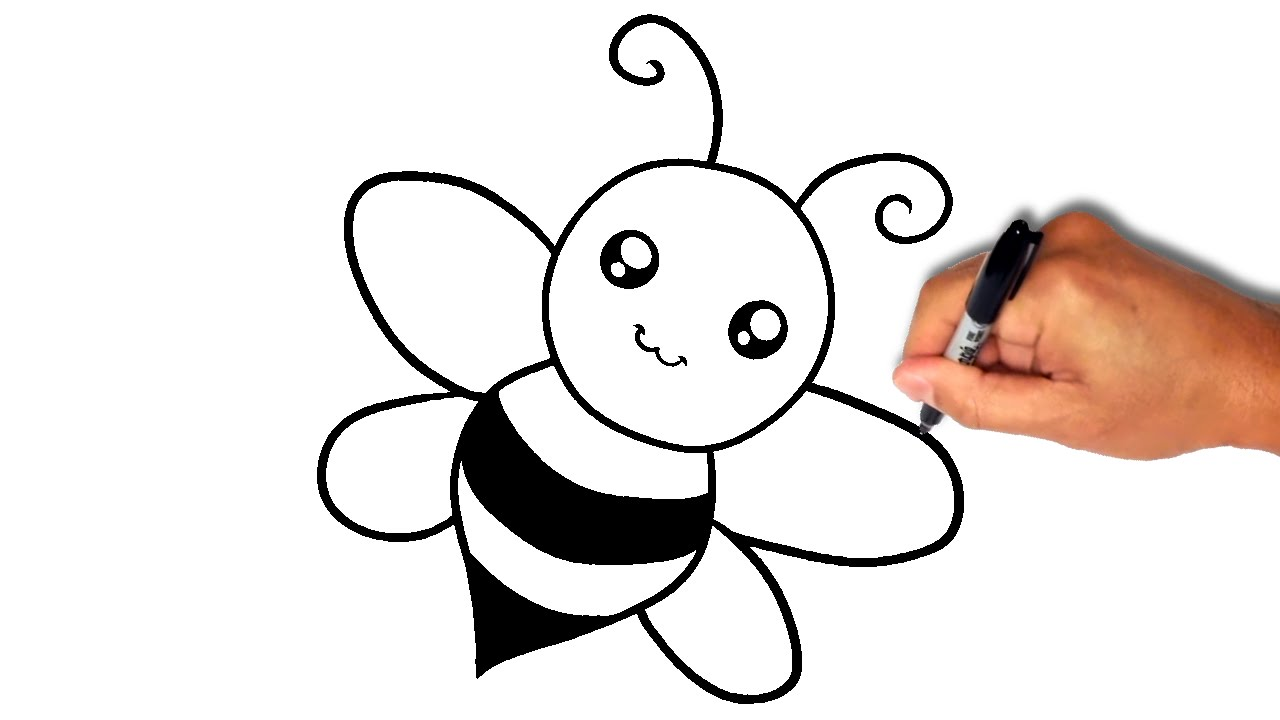 1280x720 How To Draw A Bee [Very Simple]