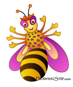 250x300 Queen Bee Cartoon Bee Queen Drawing Step By Step Beeezzzz