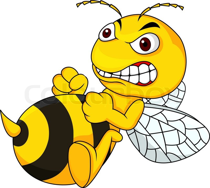 800x718 Vector Illustration Of Angry Bee Cartoon Stock Vector Colourbox