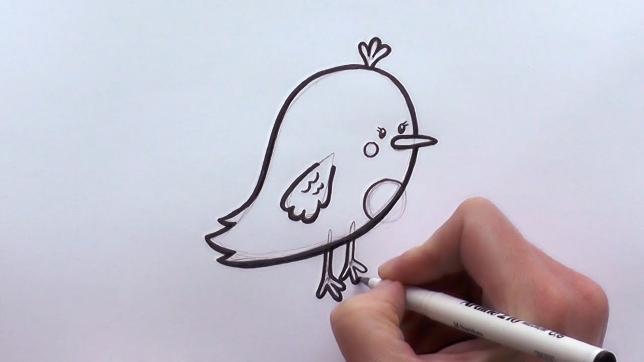 1280x720 How to Draw a Cartoon Bird