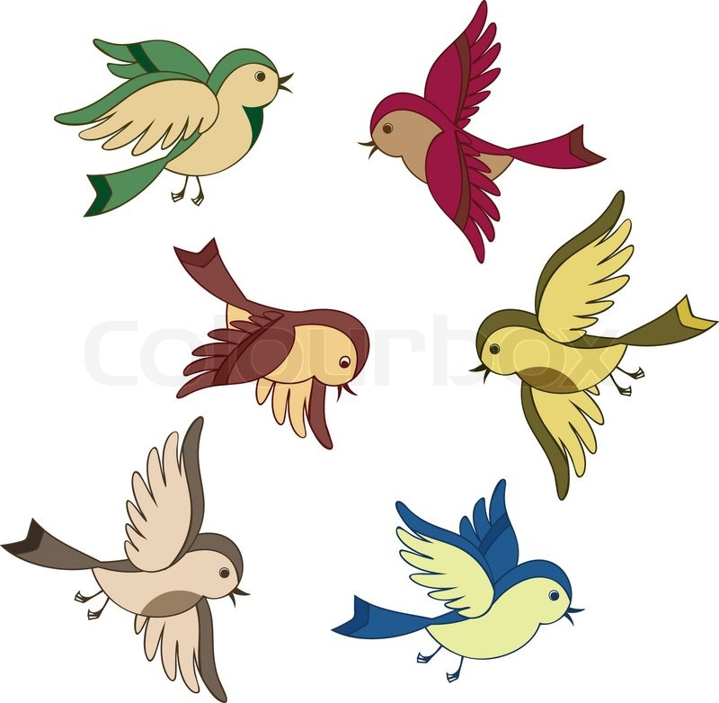 800x782 Stock Vector Of Set Flying Bird Cartoon Clipart Christmas and
