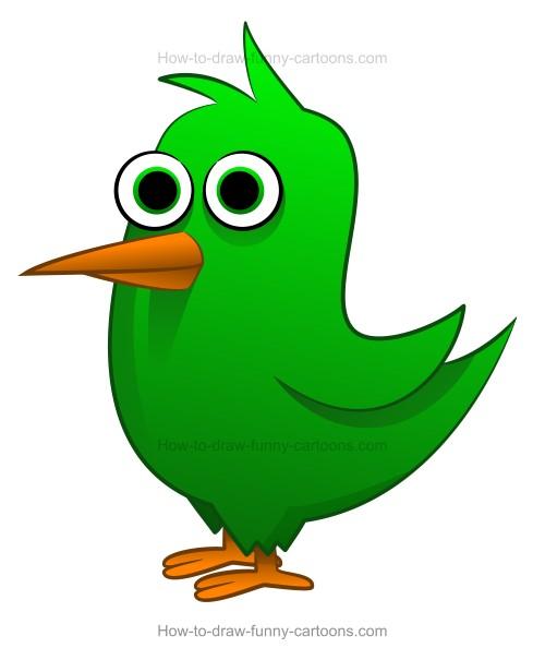 500x605 How Draw A Cartoon Bird Drawing Cartoon,