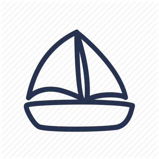512x512 Boat, Cartoon, Doodle, Drawing, Yacht Icon Icon Search Engine
