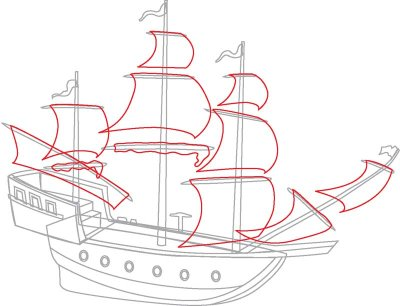 400x306 How To Draw Pirate Ships In 9 Steps Pirate Ships, Boating And Ships