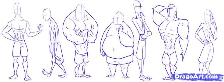 736x270 Cartoon Male Body Types