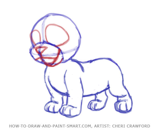 550x458 How To Draw A Puppy