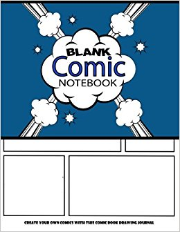 260x336 Blank Comic Notebook Create Your Own Comics