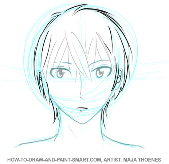 550x534 How To Draw Anime Boys