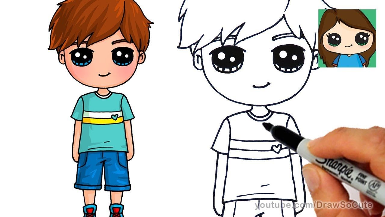 1280x720 How to Draw a Cute Boy Easy