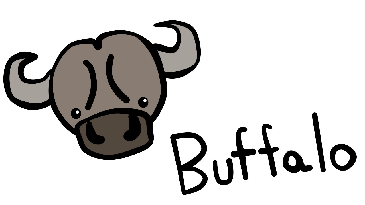 1280x720 Cute And Quick 2.0 How To Draw A Buffalo