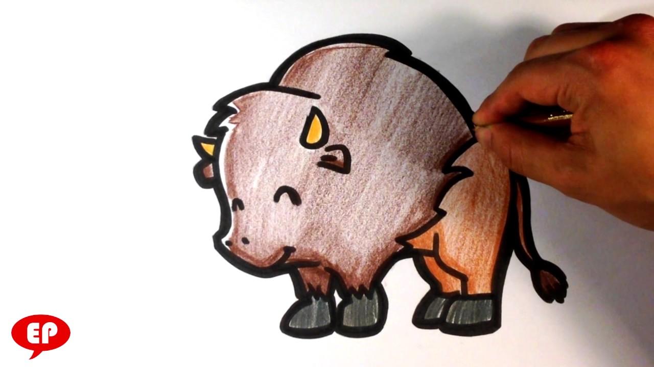 1280x720 How To Draw A Buffalo ( Cute )
