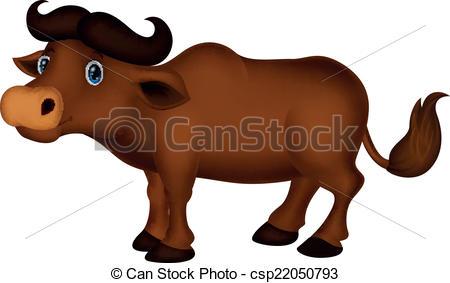 450x283 Vector Illustration Of Buffalo Cartoon Eps Vectors