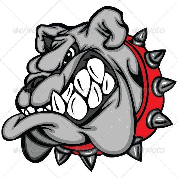 590x590 Bulldog Cartoon Face Vector Illustration Cartoon Faces