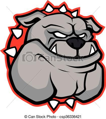 421x470 Bulldog Head Mascot. Clipart Picture Of A Bulldog Head Vector