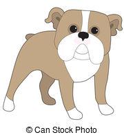 180x195 English Bulldog Cartoon Illustration Vectors Illustration