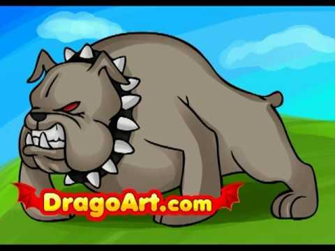 480x360 How To Draw A Cartoon Bulldog, Step By Step