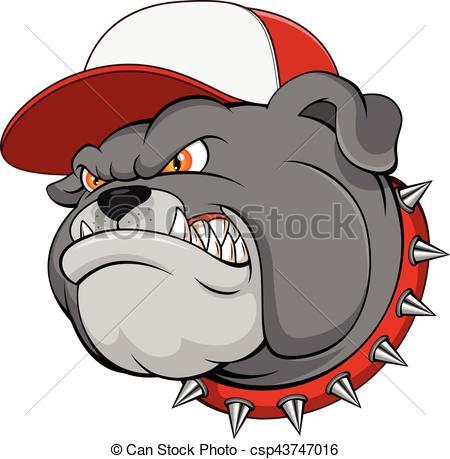 450x459 Vector Illustration Of Bulldog Mascot Cartoon Vector Clip Art