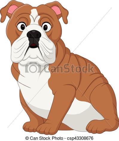 398x470 Vector Illustration Of Cartoon Bulldog Sitting Vectors