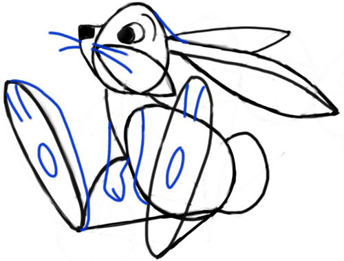 500x379 How To Draw Cartoon Bunny Rabbits And Hares With Simple Step By