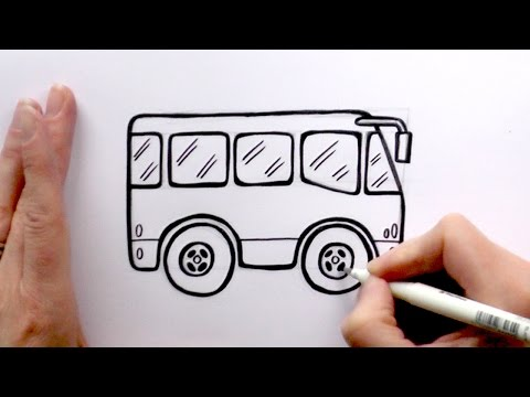 480x360 1) How To Draw A Cartoon Bus