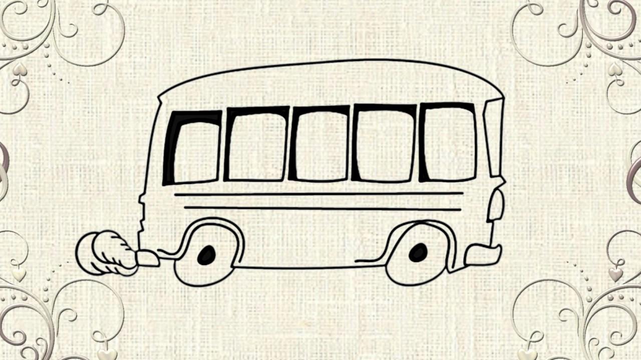 1280x720 Cartoon Bus