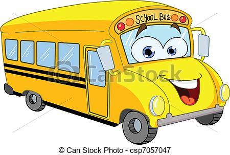 450x303 Cartoon School Bus Vectors Illustration